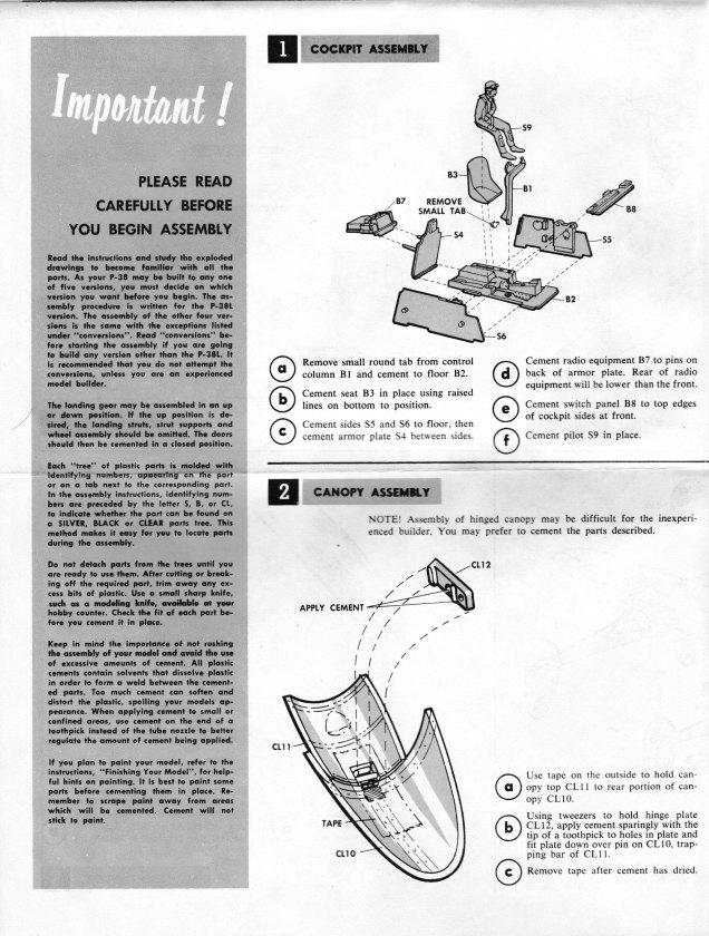 Monogram P-38 Lightning 002